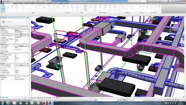 Revit MEP on screen